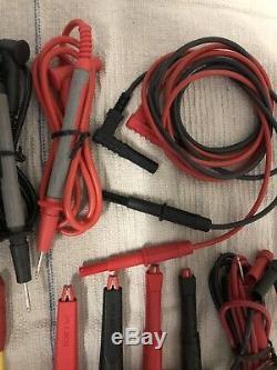 Fluke Deluxe Test Lead Kit And More Set Lot Suregrip Extech