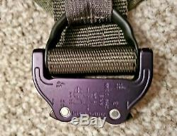 HSGI Laser Slotted Suregrip Padded Belt with IDR Cobra Rigger Combo OD Green L/XL