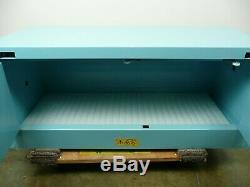 Justright SureGrip EX Piggyback Corrosive/Acid Steel Safety Cabinet 12 Gal. Blue