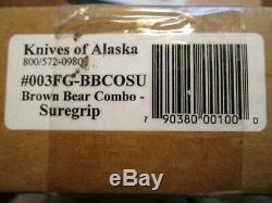 Knives of Alaska Brown Bear/Cub Combo Knife Kit Suregrip FREE SHIP Made in USA
