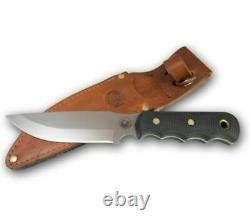 Knives of Alaska Bush Camp D2 Suregrip Handle Knife, Black