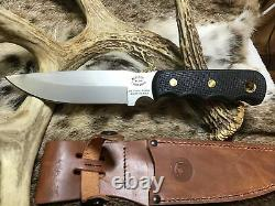 Knives of Alaska Knife Bush Camp Knife Suregrip Handles, Leather Sheath