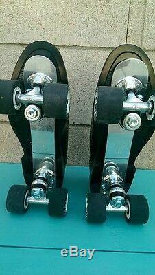 Mens 9.5 Roller Skate Stacy Adams Type Oxford-SureGrip Century plates-MiniAdonis