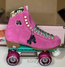Moxi Lolly Fuchsia Skates Size 7 w8-8.5 Sunlite Plates Sure-Grip Wheels. READY