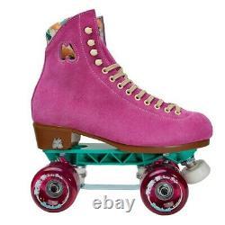Moxi Lolly Fuchsia Skates Size 9 w10-10.5 Sunlite Plates Sure-Grip Wheels. READY