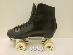 NEW DOMINION competitor SUREGRIP VTG roller skates MENS 10 black canada riedell