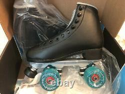 NEW Sure-Grip Fame Black Roller Skate size 6 with Blue Motion Wheels