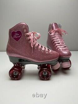 NEW Sure Grip Two Faced Exclusive Stardust Sz 7 Roller Skate With Outdoor Wheels