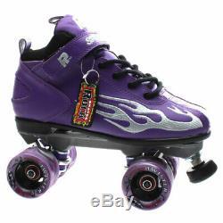 NEW Suregrip Mens/Womens Rock GT-50 Black Quad Roller Skates in Black/Purple