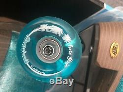 New Blue Sure Grip Stardust Size Ladies 8 Roller Skate with Outdoor Wheels
