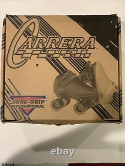 New Riedell Carrera Speed Skates Mens Size 14 Black 105B 96A Sure Grip Wheels