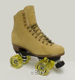 New Sure Grip Vintage Tan Suede Indoor Roller Skates Men's Size 7 & More