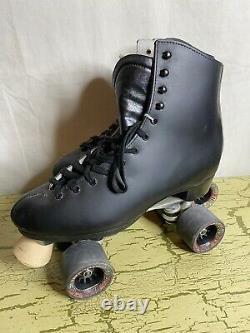 New Vintage Sure-Grip Super X7 Roller Skates M8.5 W9.5 Black Gorilla Grip Wheels