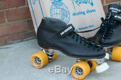 Riedell 125 RS 1000 Speed Roller Skate Boots Mens Women Competitor 8L SURE-GRIP