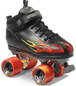 (SALE) Sure grip rock speed freak flame roiler derby quad skates UK 5, 5.5, 6