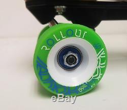 Sale Sure-grip S85 Black Quad Speed/ Derby Roller Skate Package- Men's Size 7