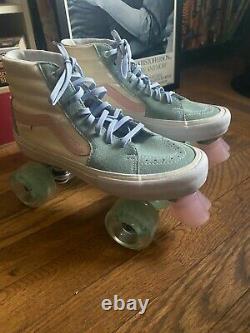 Slightly Used Vans Roller Skates (Sure Grip Super X Plate+ Moxi Gummy Wheels)