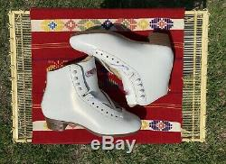 Sure Grip 93 Womens Size 7 White Leather Artistic Skate Boot