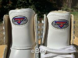 Sure Grip 93 Womens Size 8 Shearling Tongue White Leather Artistic Skate Boot