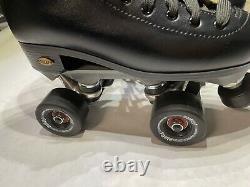 Sure-Grip Black Roller Skates Fame Outdoor Wheels Men's 6, Women's 8