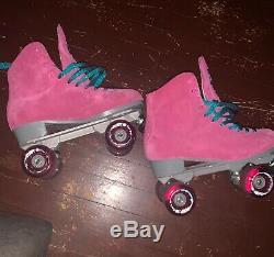 Sure Grip Boardwalk Roller Skates, Size 10 Pink Suede (like Moxi)
