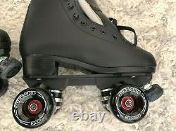 Sure Grip Fame Aerobics Outdoor Roller Skates Black Size 7 Men Women 8.5 New