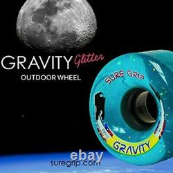Sure-Grip Gravity Sparkle Quad Roller Skate Outdoor Wheels 78A Teal (Pack of 8)