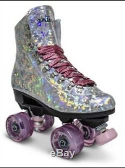 Sure Grip Pink Prism Quad Outdoor Roller Skates, Size 9