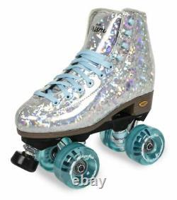 Sure-Grip Quad Roller Skates Prism Plus Silver with Light Blue Limited Edi