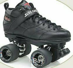 Sure Grip Quad Skates- Rebel-Size Men's 9 Black ONLY 25%