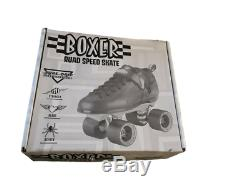 Sure-Grip Quad Speed Skates Boxer Black/Pink Size 8 NIB