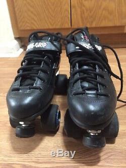 Sure-Grip Rebel Black Roller Skates Size 10 Article # SG-6888 Extra New Wheels