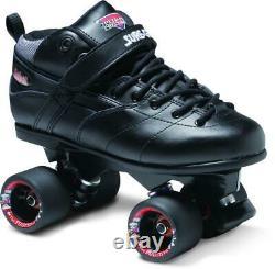 Sure-Grip Rebel Fugitive Derby Quad Skates US 13 / UK 12 Black Rollerskates