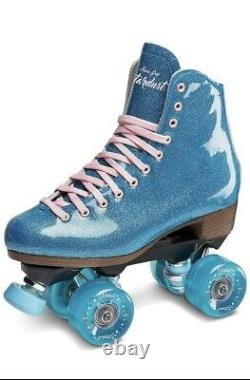 Sure Grip Size 7 Stardust Blue Glitter Quad Roller Skates