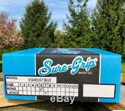 Sure Grip Stardust Blue Glitter High Top Glitter Roller Skates size 7 ladies