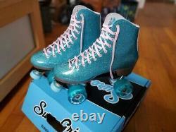 Sure-Grip Stardust Roller Skates Glitter Blue Men's 9 Original Box