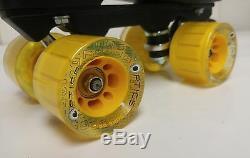 Sure-grip Xl85 Black Quad/ Speed Roller Skate Package- Men's Size 5.5 & More
