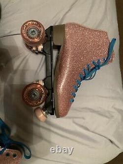 Sure grip roller skates Size 8 Men/ 9 Women Glitter pink