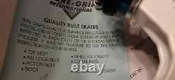 Suregrip RIEDELL Roller quad Speed jam skates vintage Grey Avenger Trucks size 5