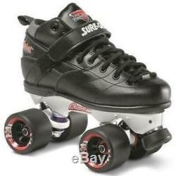 Suregrip Rebel Roller Skates Black w Avanti Magnesium Plate