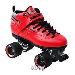 Suregrip Rebel Roller Skates RED Derby FREE POST
