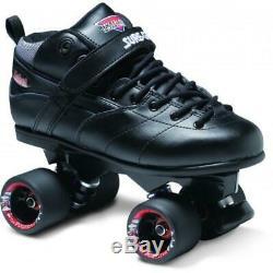 Suregrip Rebel Roller Skates w Invader Plates Derby Black Free Post