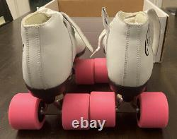 Vintage New Carrera Riedell Speed Skates White Womans Size 7 Sure Grip