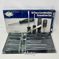 Vintage SK 10 Piece Combination Screwdriver Set No. 86006 Suregrip Handles NEW
