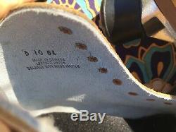 Vintage Sure Grip 1300 Tan Suede Roller Skate Mens Size 5 withSuper X Plate