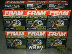 (6) Fram Xg3506 Ultra Synthétique Filtre À Huile Avec Sure Grip Jusqu'à 15 000 Miles