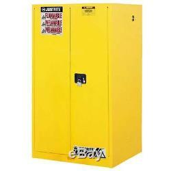 60 Gallon Sure Grip Ex Inflammable Cabinet De Stockage, Fermer Manuel, Justrite 896000