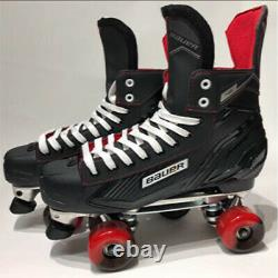 Bauer Ns Quad Roller Skates -sure-grip Competitor Aluminium Plate Custom Build