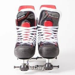 Bauer Nsx Quad Roller Skates Uk 8 Sure-grip Avanti Aluminium Plate (pas De Roues)