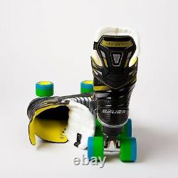 Bauer Supreme S35 Quad Roller Skates Sure-grip Rock Plate No Wheels Uk 7